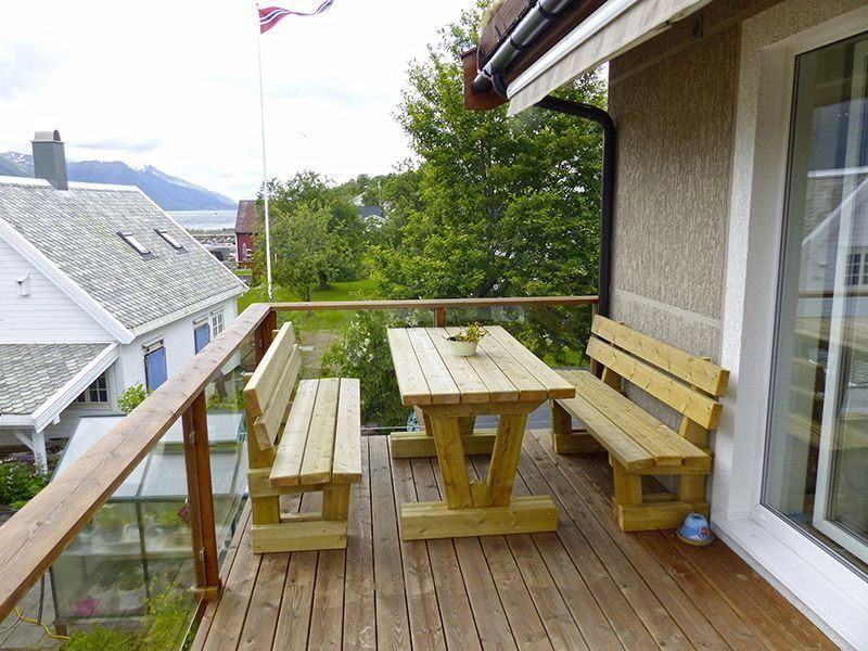 Angelreisen Norwegen 41892 Solstrand Fjord Holiday Terrasse
