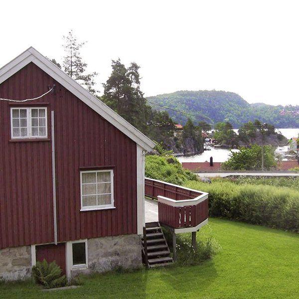 Angelreisen Norwegen 40071 Røsstad Hytter Haus mit Fjordblick