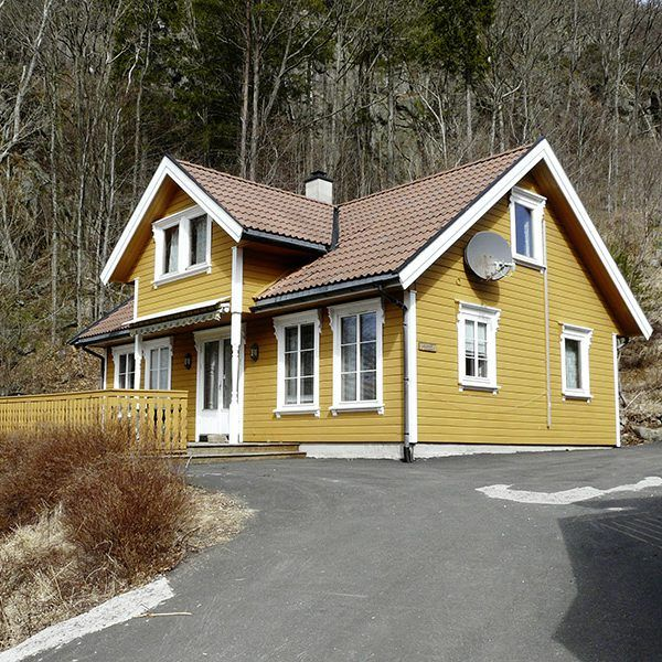 Angelreisen Norwegen 40081 Bjørnevåg Ferie Haus Ansicht