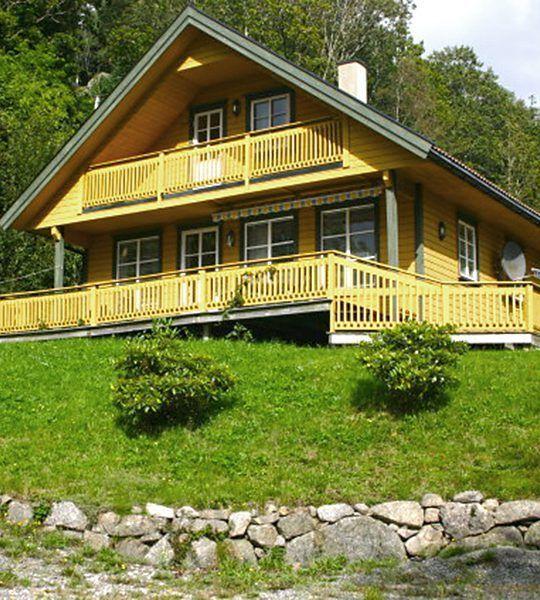 Angelreisen Norwegen 40083 Bjørnevåg Ferie Haus-Ansicht