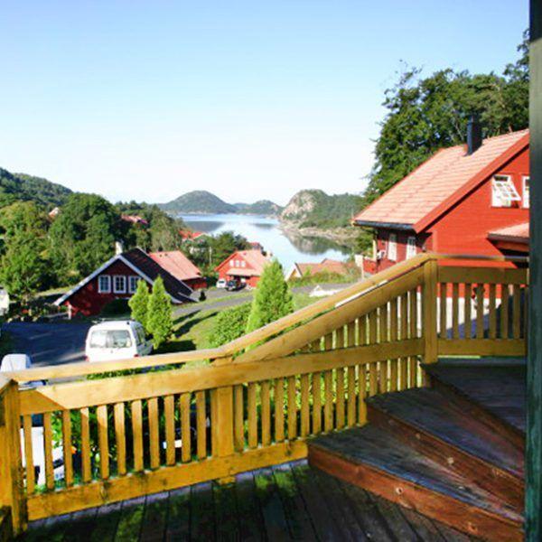 Angelreisen Norwegen 40083 Bjørnevåg Ferie Haus-Aussicht