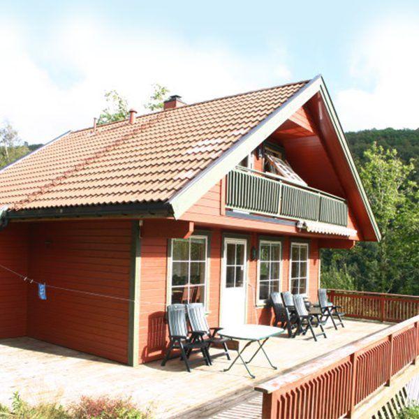 Angelreisen Norwegen 40084 Bjørnevåg Ferie Haus-Ansicht