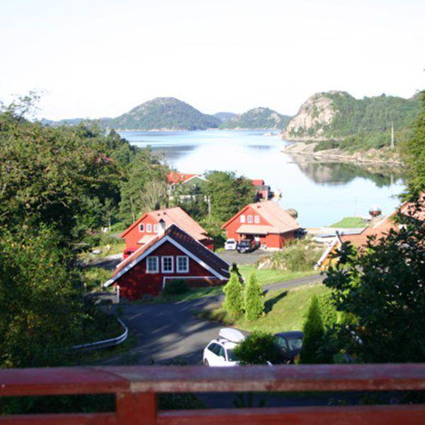 Angelreisen Norwegen 40084 Bjørnevåg Ferie Haus-Aussicht