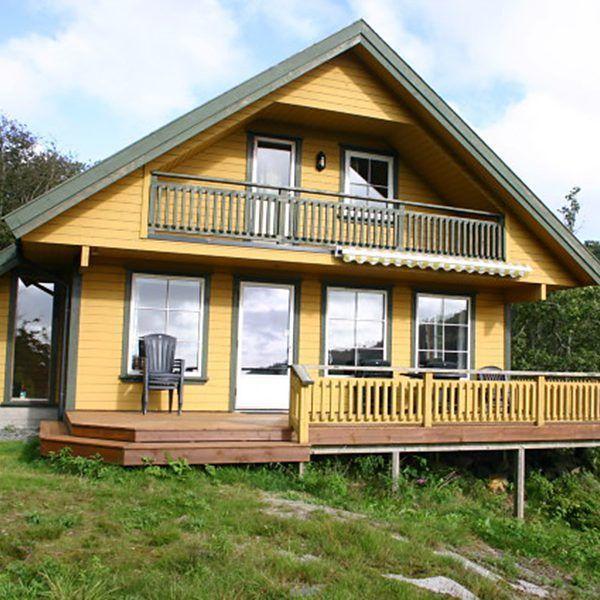 Angelreisen Norwegen 40085 Bjørnevåg Ferie Haus-Ansicht