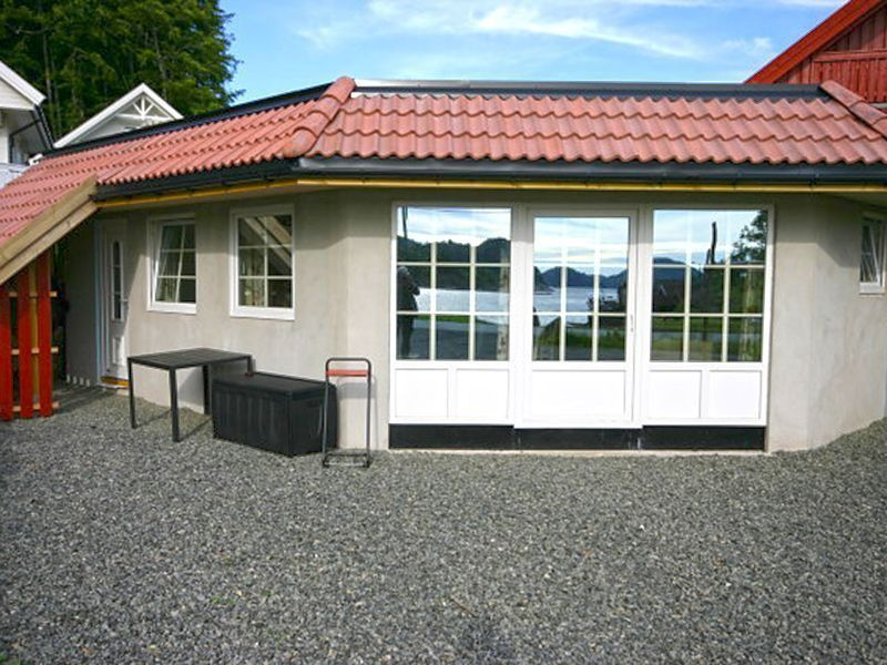 Angelreisen Norwegen 40093 Bjørnevåg Ferie Haus-Ansicht
