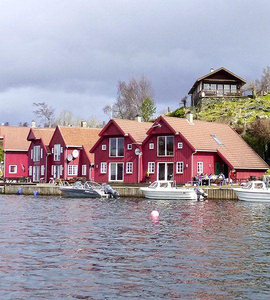 Angelreisen Norwegen 40411-421 Furre Hytter Ansicht Vom Wasser
