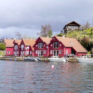 Angelreisen Norwegen 40411-40421 Furre Hytter Ansicht vom Wasser