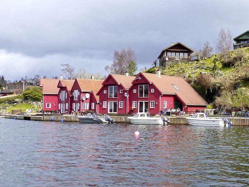 Angelreisen Norwegen 40411-421 Furre Hytter Ansicht-vom-Wasser