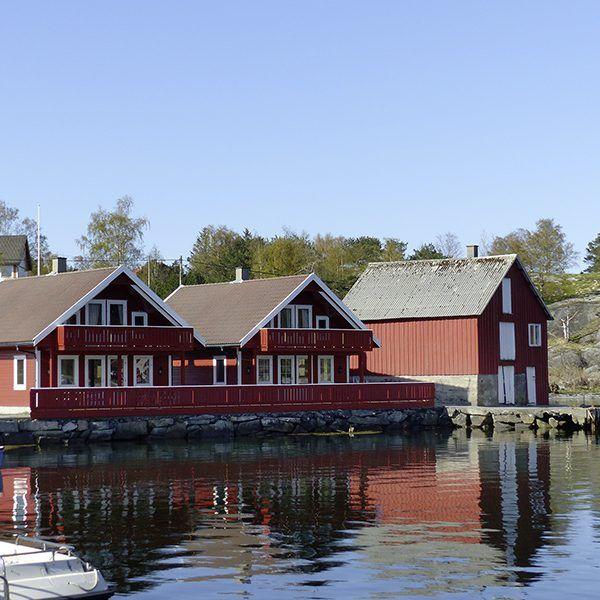 Angelreisen Norwegen 40601-602 Hebnes Ansicht Haus_Wasserseite