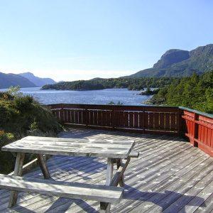 Angelreisen Norwegen 40651 Ropeid Terrasse