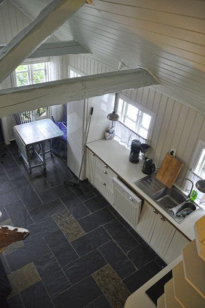 Angelreisen Norwegen 41331 Haus Sotra Küche von oben