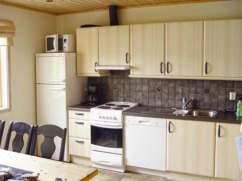 Angelreisen Norwegen 41401-402 Sognefjord Ferienhäuser Küche