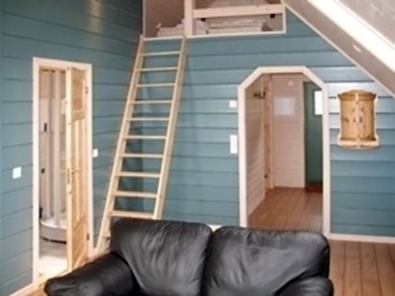 Angelreisen Norwegen 41403 Sognefjord Ferienhäuser Treppe zum Hems