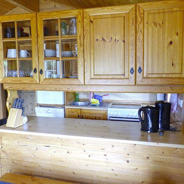 Angelreisen Norwegen 41471 Falkevik Hytter Küchentresen