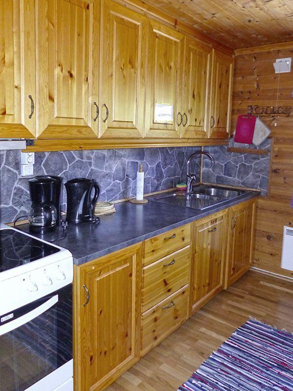 Angelreisen Norwegen 41472 Falkevik Hytter Küche