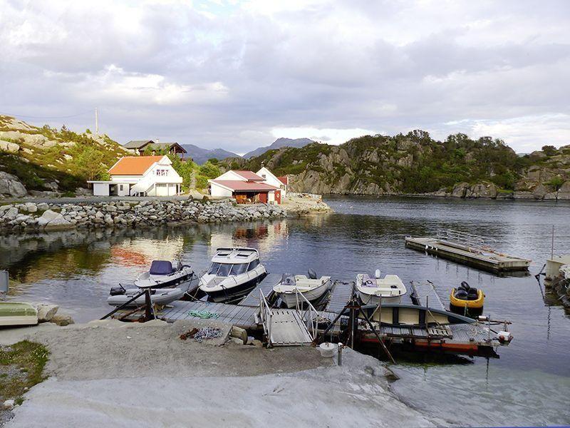 Angelreisen Norwegen 41530 Smørhamn Hafen Überblick