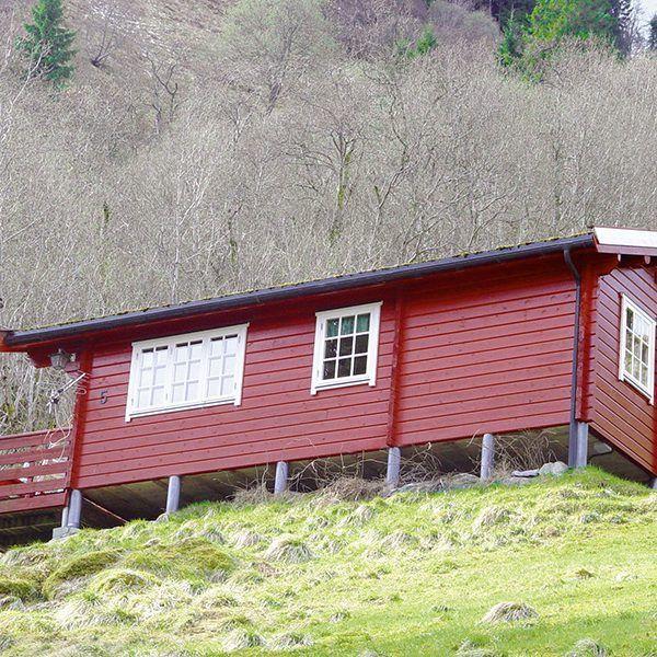Angelreisen Norwegen 41663 Hustadnes Fjordhytter Ansicht