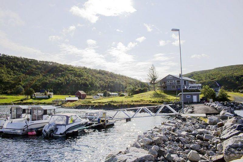 Angelreisen Norwegen 43700 Dåfjord Havfiske Hafen Überblick
