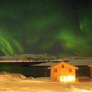Angelreisen Norwegen 43811-823 Mikkelvik Brygge Nordlicht