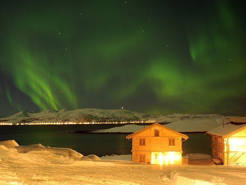 Angelreisen Norwegen 43811-43823 Mikkelvik Brygge Nordlicht