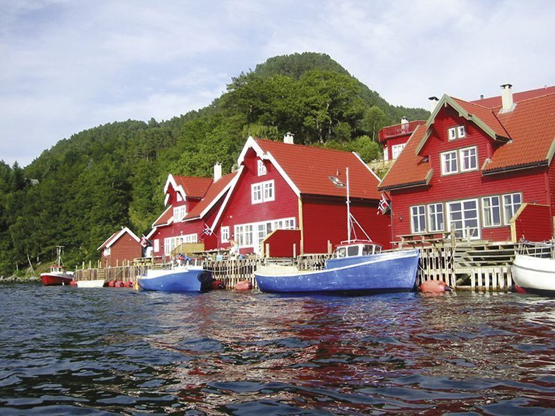 Angelreisen Norwegen 40541-40546 Solvåg Fjordferie Fjordhäuser