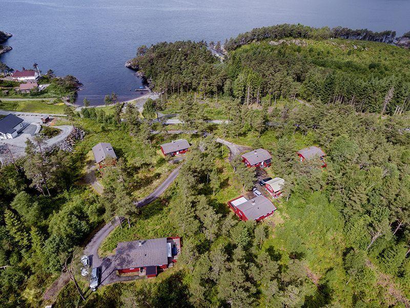 Angelreisen Norwegen 40911-40918 Halsnøy Luftbild Überblick