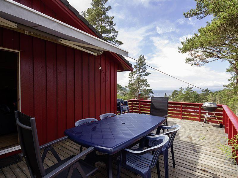 Angelreisen Norwegen 40915 Halsnøy Terrasse