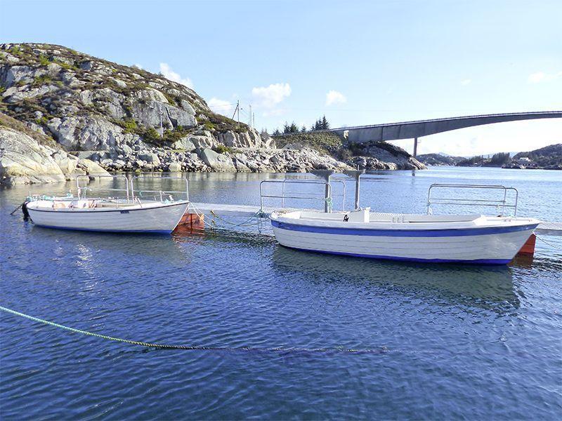 Angelreisen Norwegen 41081-083 Brandasund Hafen Überblick