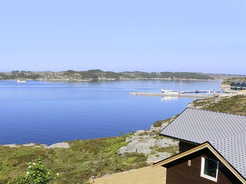 Angelreisen Norwegen 41330 Austefjord Blick zum Hafen