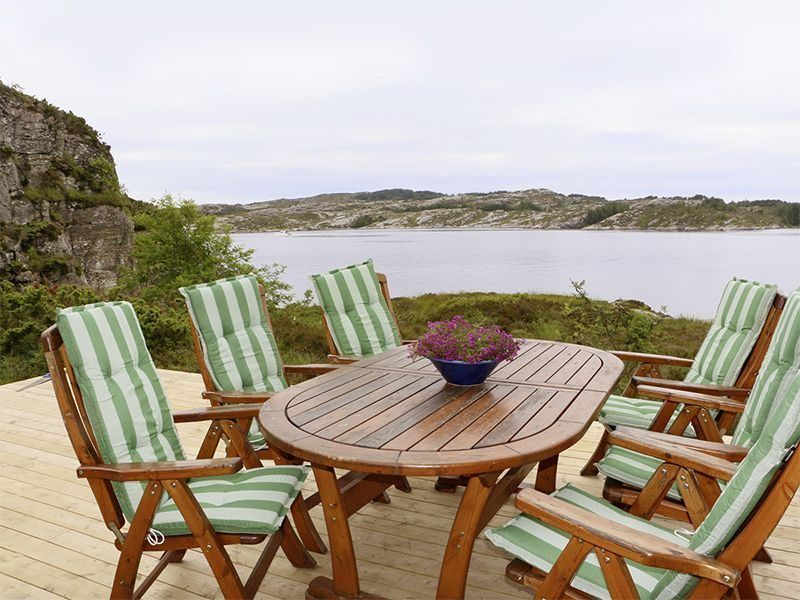 Angelreisen Norwegen 41330 Austefjord Terrasse