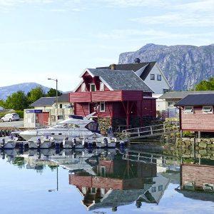 Angelreisen Norwegen 41414 Fjordkick Sørbøvåg Hafen
