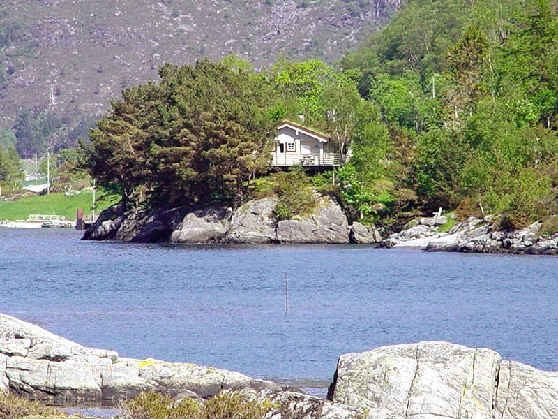 Angelreisen Norwegen 41501-41504 Skottneset Feriesenter Ansicht vom Wasser