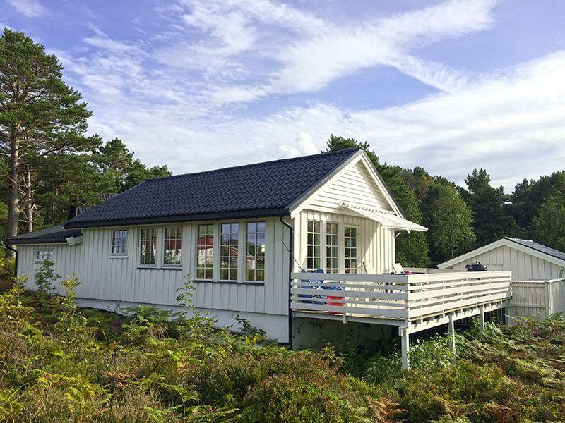 Angelreisen Norwegen 41775 Ferienhäuser Nerås Terrasse
