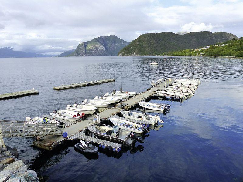 Angelreisen Norwegen 41841-857 Romsdal Fjordlodge Hafen