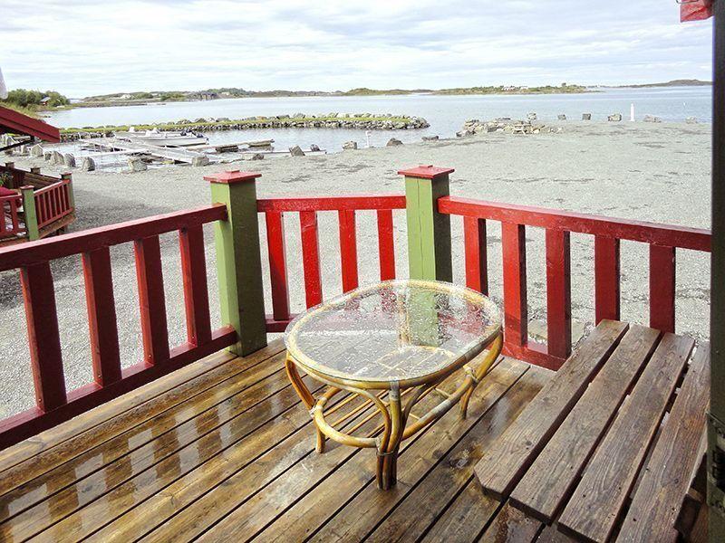 Angelreisen Norwegen 41907-908 Atlanterhavsveien Sjøstuer Terrasse
