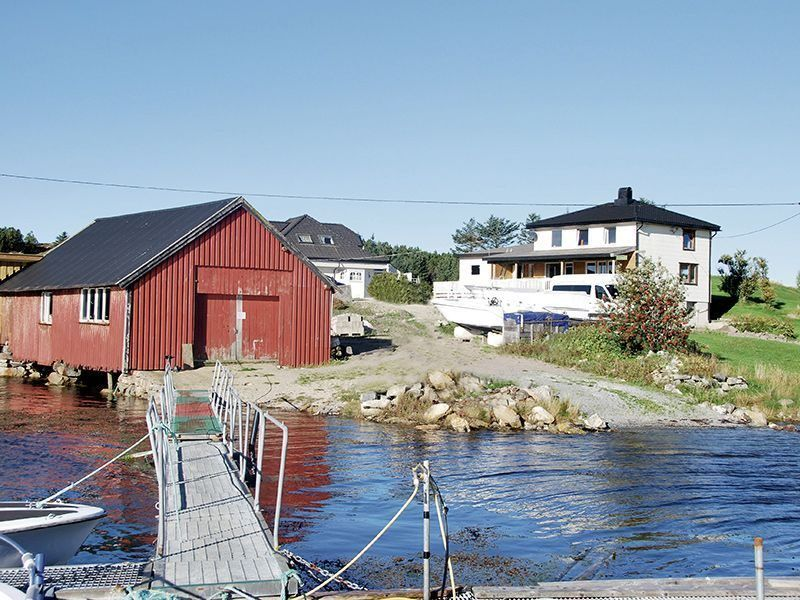 Angelreisen Norwegen 42162 Måsøval Ansicht vom Hafen