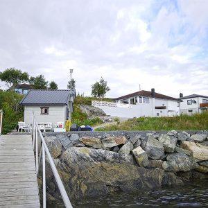 Angelreisen Norwegen 42261 Ansnes Ansicht vom Hafen