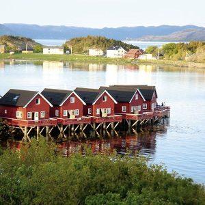 Angelreisen Norwegen 42321-42327 Rønsholmen Brygger Ansicht vom Wasser