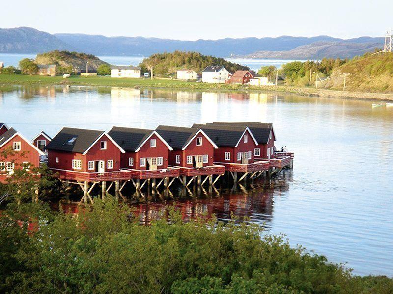 Angelreisen Norwegen 42321-327 Rønsholmen Brygger Ansicht vom Wasser