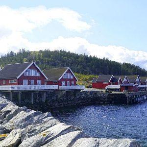 Angelreisen Norwegen 42351-42370 Nesvalen Rorbuer Ansicht