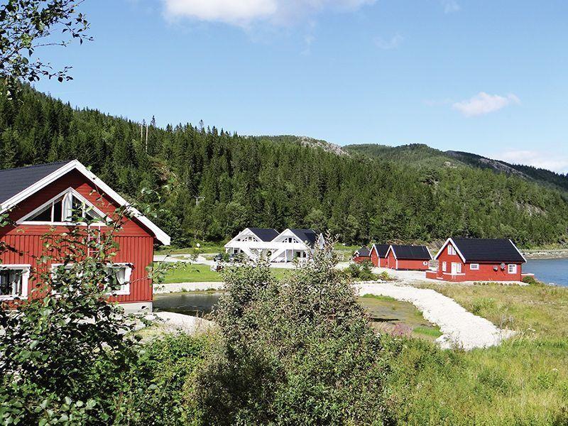 Angelreisen Norwegen 42801-42807 Bogen Feriehus Gesamtansicht