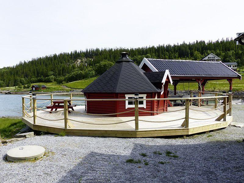Angelreisen Norwegen 42801-42807 Bogen Feriehus Grillhütte + Filetierplatz