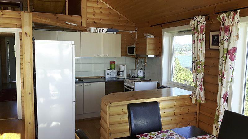 Angelreisen Norwegen 42980 Bjørnvika Natursenter Küche