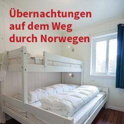 Übernachtungen Anreise Norwegen