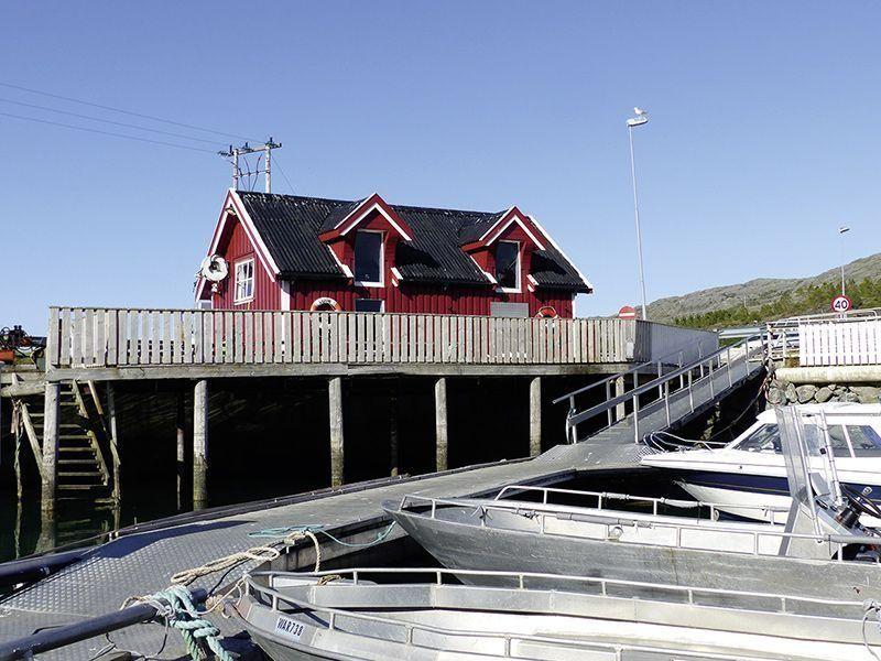 Angelreisen Norwegen 42891-42895 Vennesund Brygge Filetierhaus + Hafen
