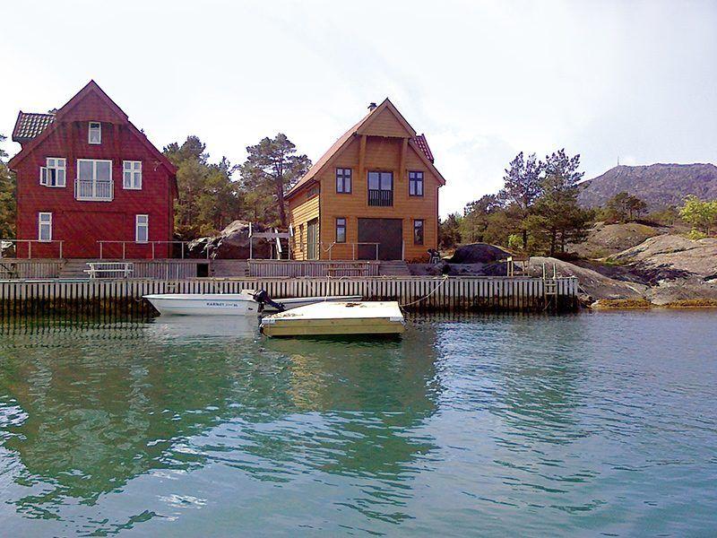Angelreisen Norwegen 41120 Gassasundet Gul Rorbu Ansicht