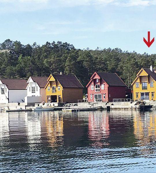 Angelreisen Norwegen 41120 Gassasundet Ansicht Gul Rorbu