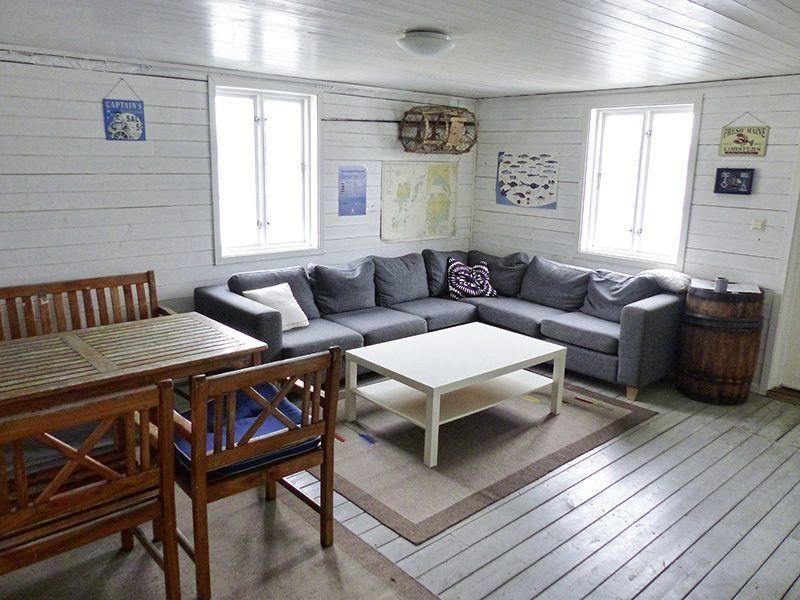 Angelreisen Norwegen 40321 Kvitsøy Seehaus Jone Aufenthaltsraum