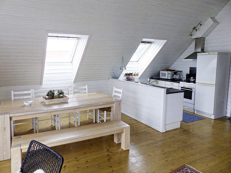 Angelreisen Norwegen 40321 Kvitsøy Seehaus Jone Essplatz + Küche