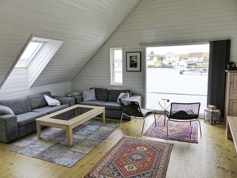 Angelreisen Norwegen 40321 Kvitsøy Seehaus Jone Wohnbereich